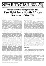 Spartacist South Africa No. Supplement